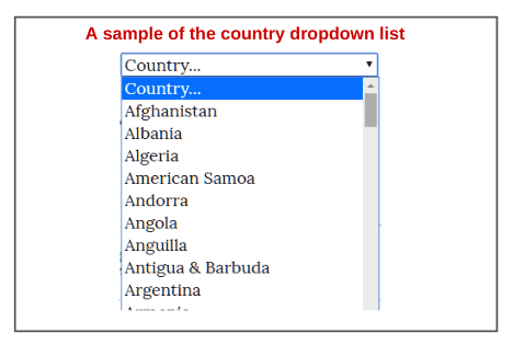 sample-of-the-country-dropdown-list