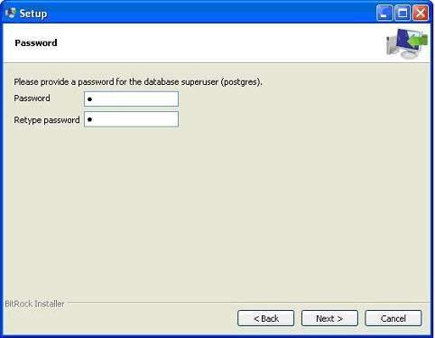 Postgresql-Install-Password
