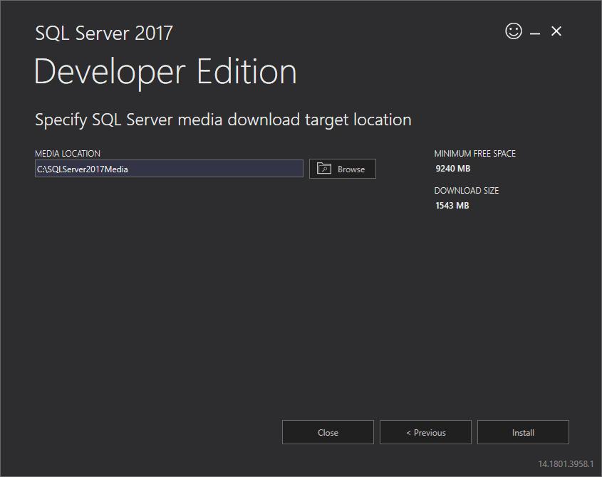 install-sql-server-2017-developer-edition-step-2