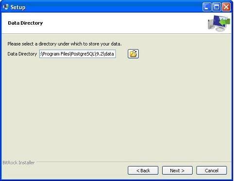 Postgresql-Install-Data-Dir